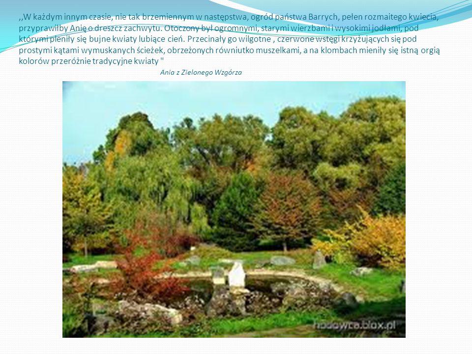 ,,W każdym innym czasie, nie tak brzemiennym w następstwa, ogród państwa Barrych, pełen rozmaitego kwiecia, przyprawiłby Anię o dreszcz zachwytu.