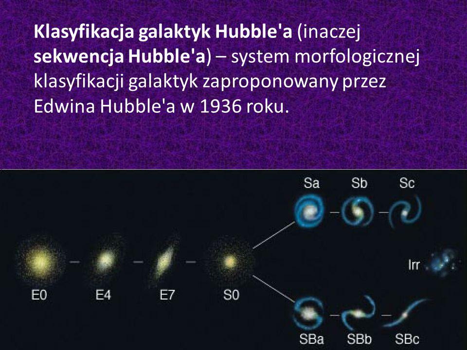 Klasyfikacja galaktyk Hubble a (inaczej sekwencja Hubble a) – system morfologicznej klasyfikacji galaktyk zaproponowany przez Edwina Hubble a w 1936 roku.