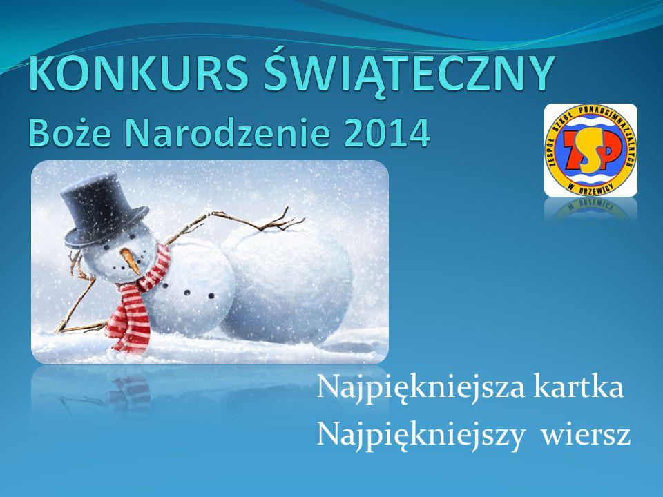 KONKURS ŚWIĄTECZNY Boże Narodzenie 2014