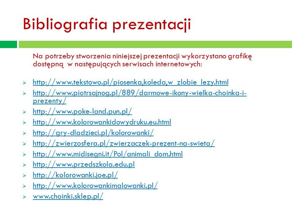 Bibliografia prezentacji