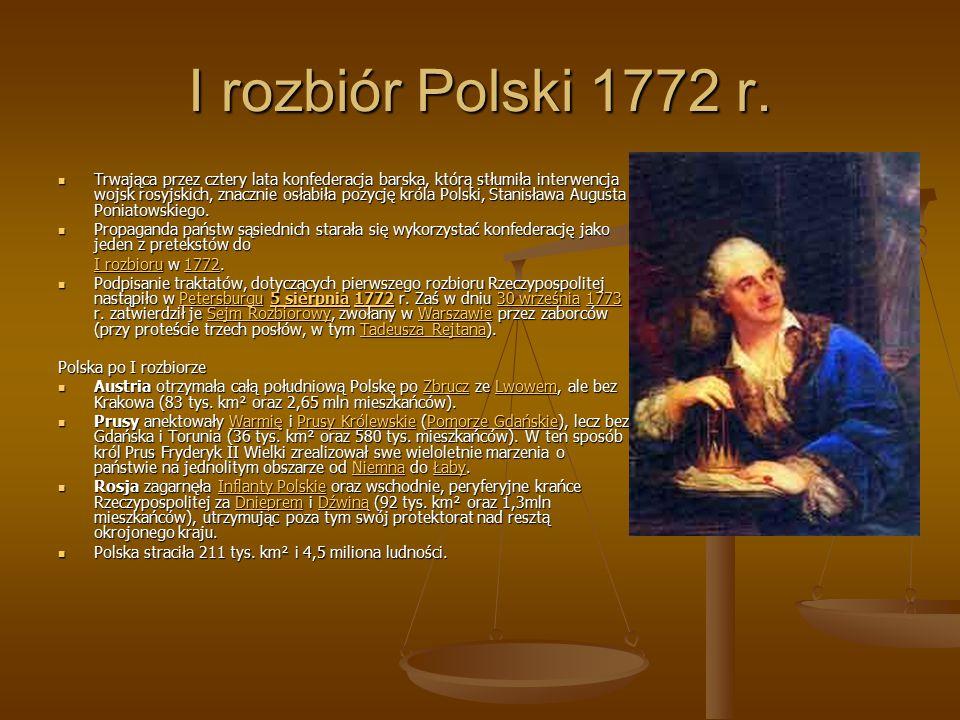 I rozbiór Polski 1772 r.