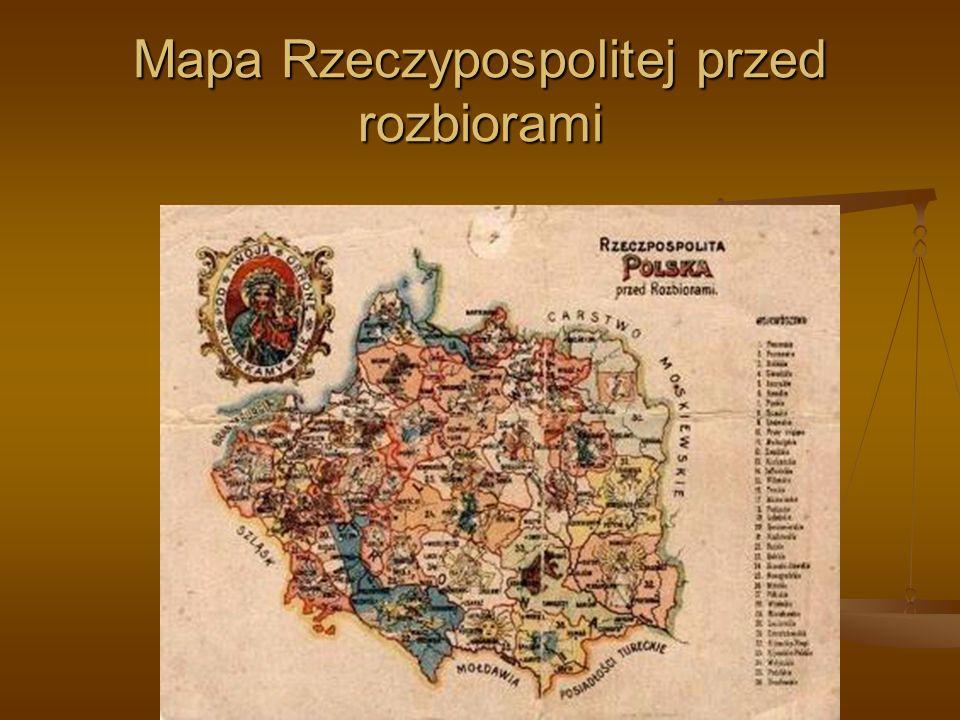 Mapa Rzeczypospolitej przed rozbiorami