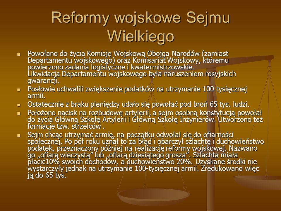 Reformy wojskowe Sejmu Wielkiego