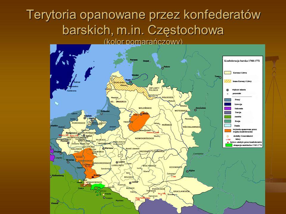 Terytoria opanowane przez konfederatów barskich, m. in