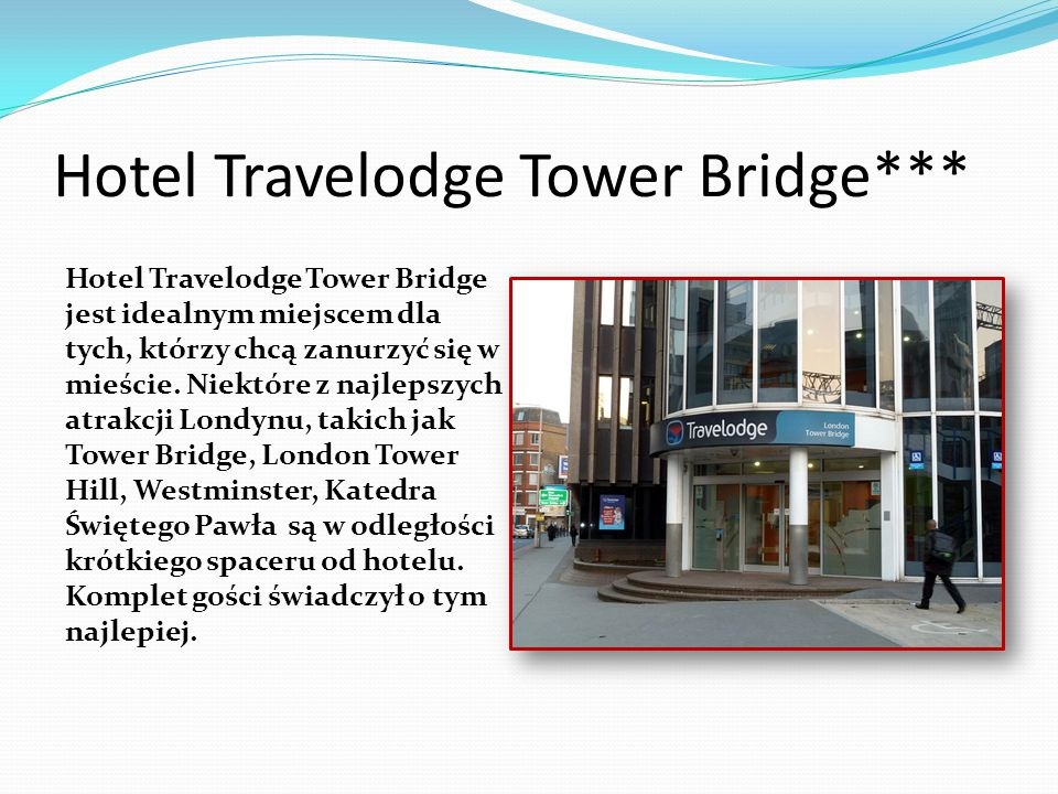 Hotel Travelodge Tower Bridge***