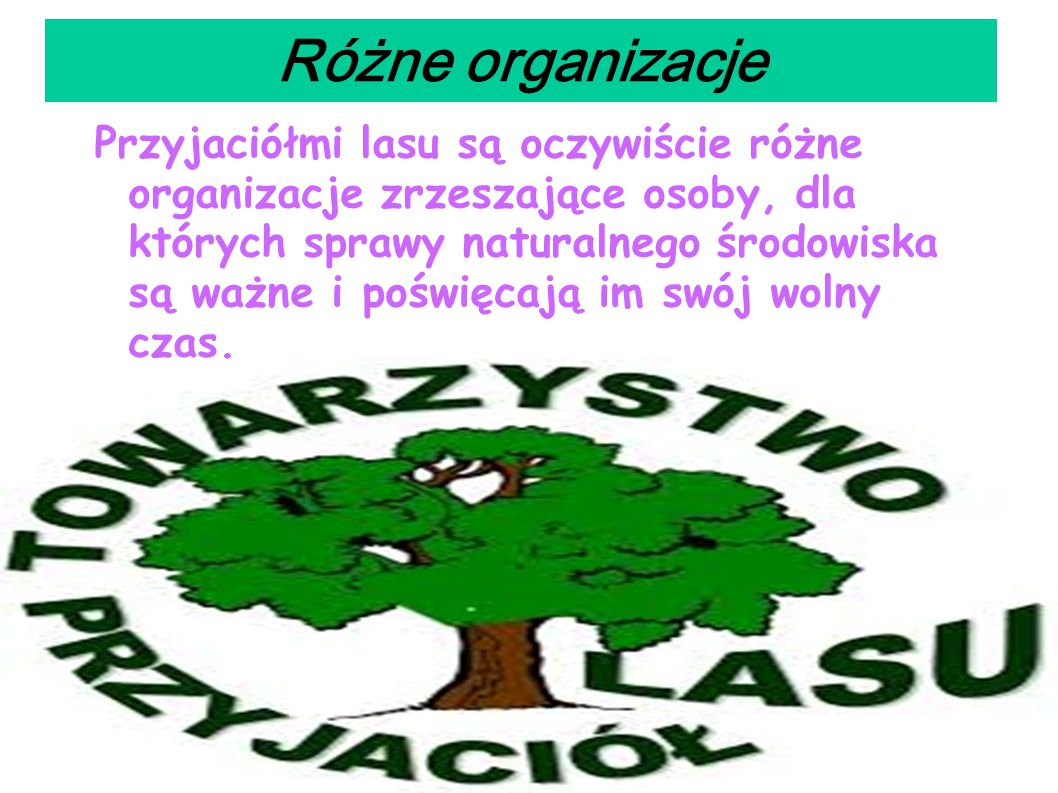 Różne organizacje
