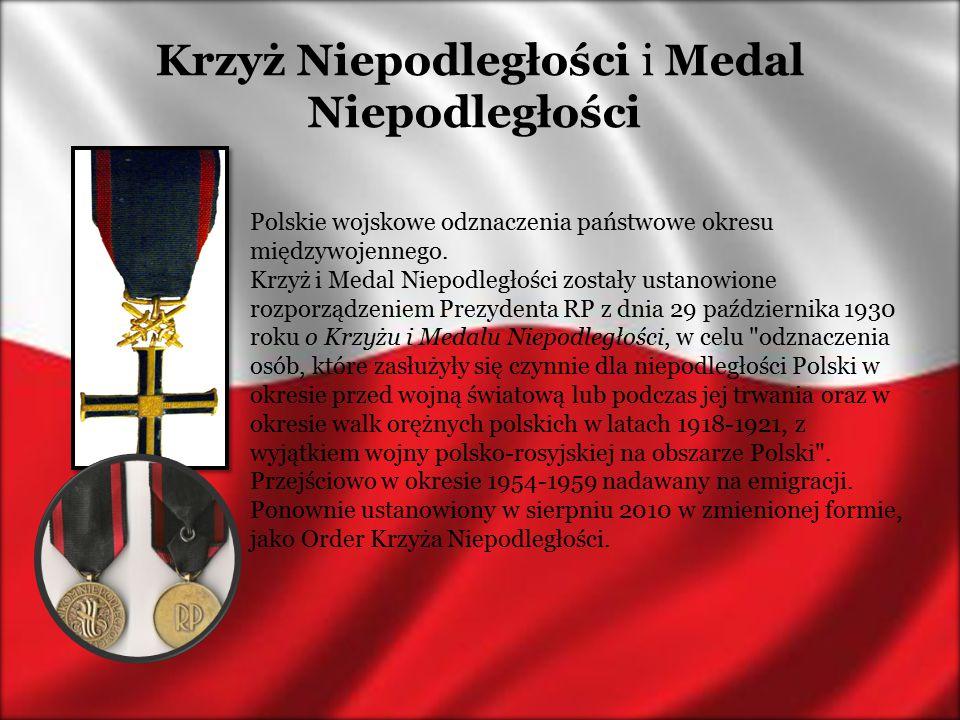 Krzyż Niepodległości i Medal Niepodległości