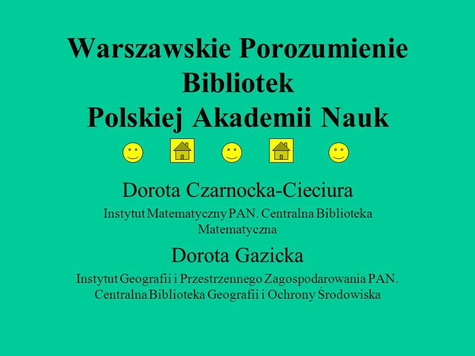 Warszawskie Porozumienie Bibliotek Polskiej Akademii Nauk