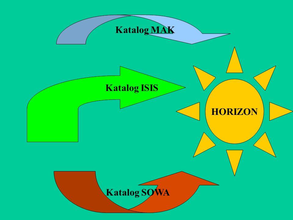 Katalog MAK HORIZON Katalog ISIS Katalog SOWA