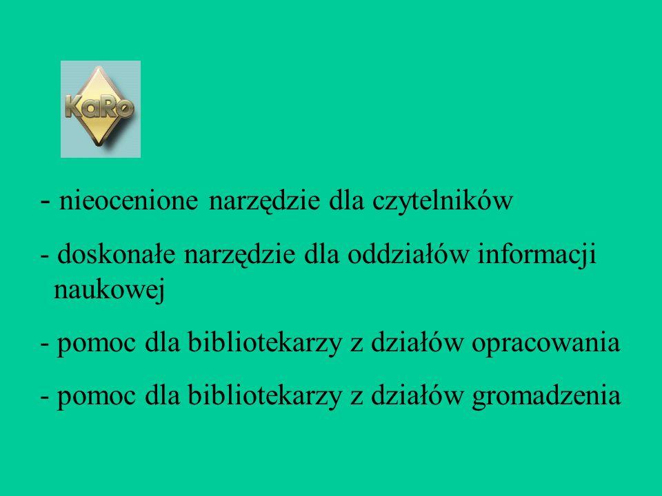 - nieocenione narzędzie dla czytelników