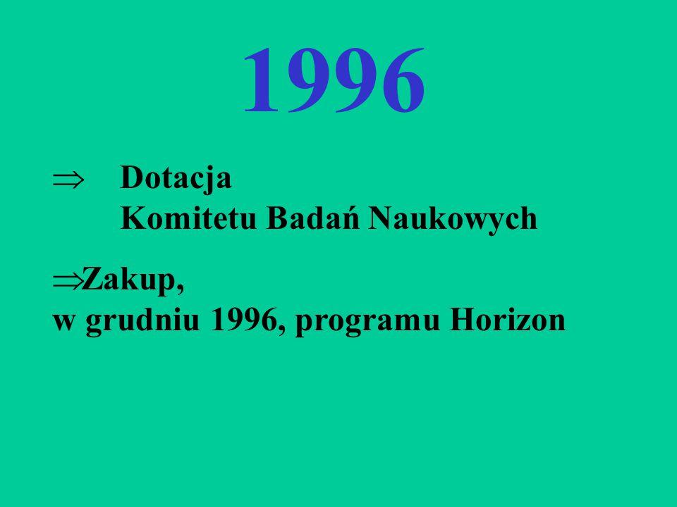 1996 Dotacja Komitetu Badań Naukowych