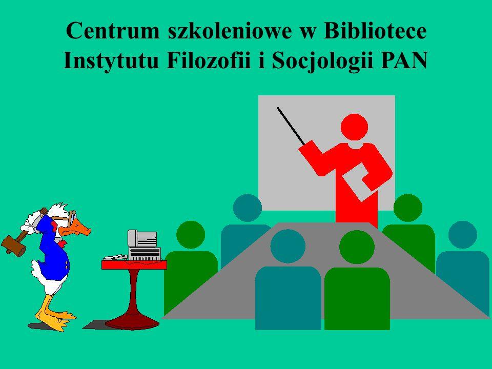 Centrum szkoleniowe w Bibliotece Instytutu Filozofii i Socjologii PAN