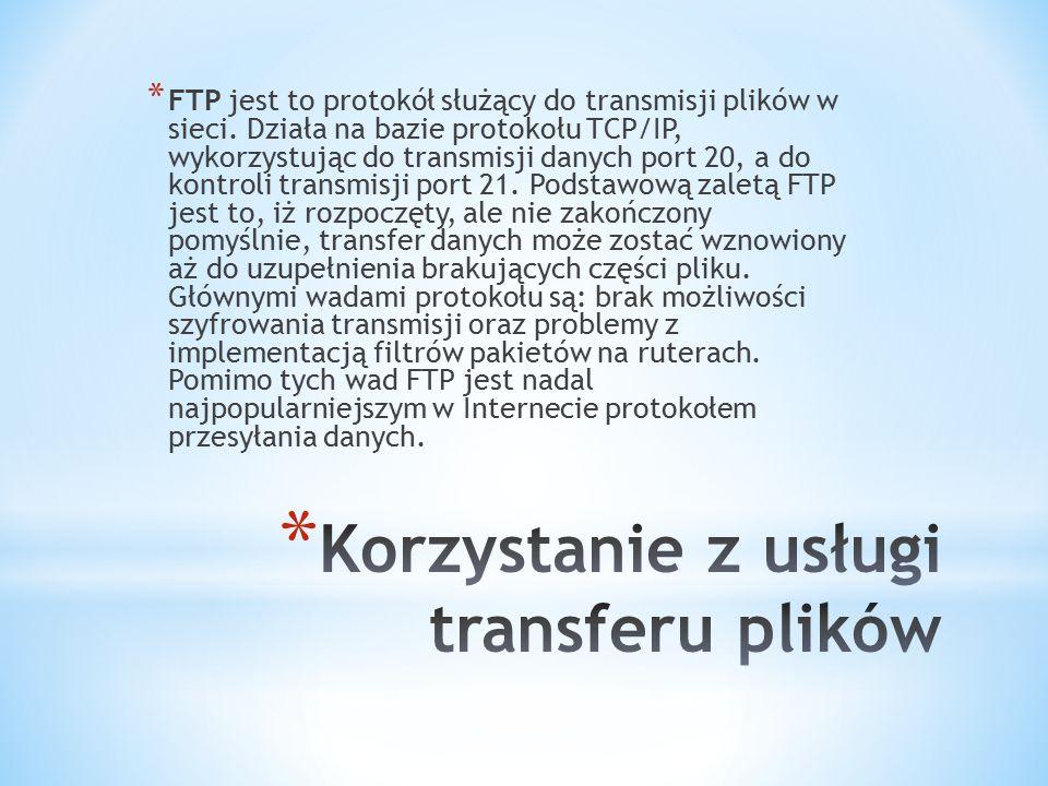 Korzystanie z usługi transferu plików