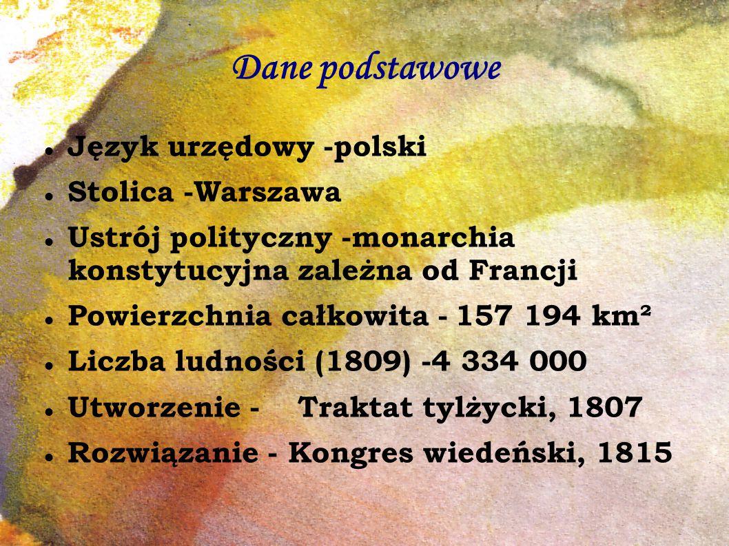 Dane podstawowe Język urzędowy -polski Stolica -Warszawa