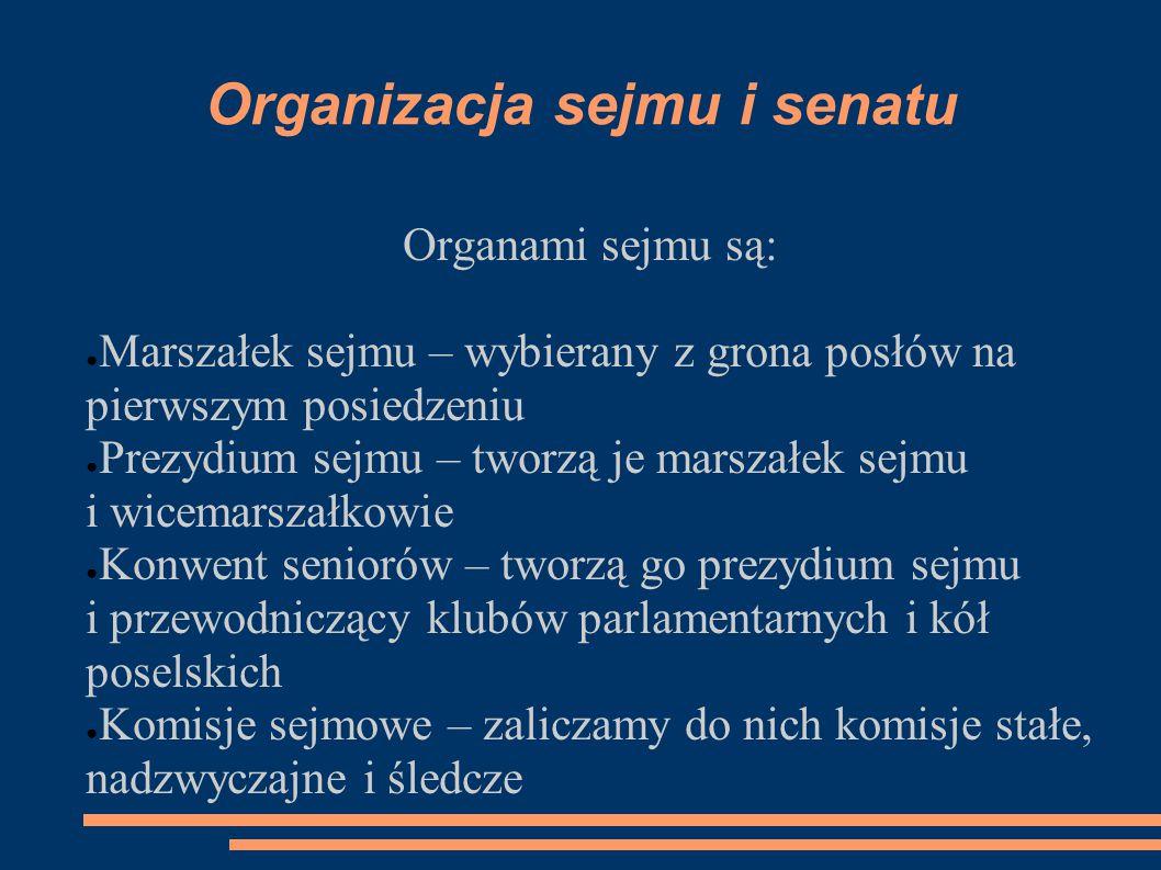 Organizacja sejmu i senatu
