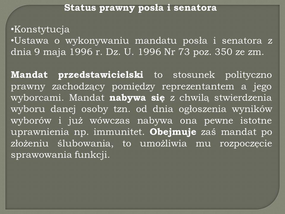 Status prawny posła i senatora