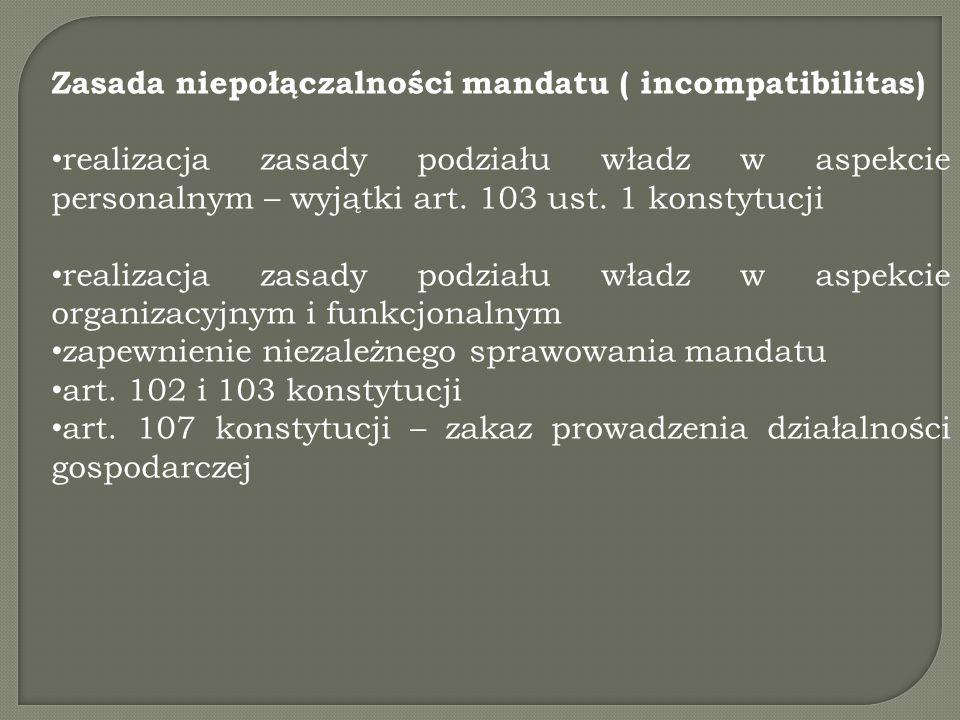 Zasada niepołączalności mandatu ( incompatibilitas)