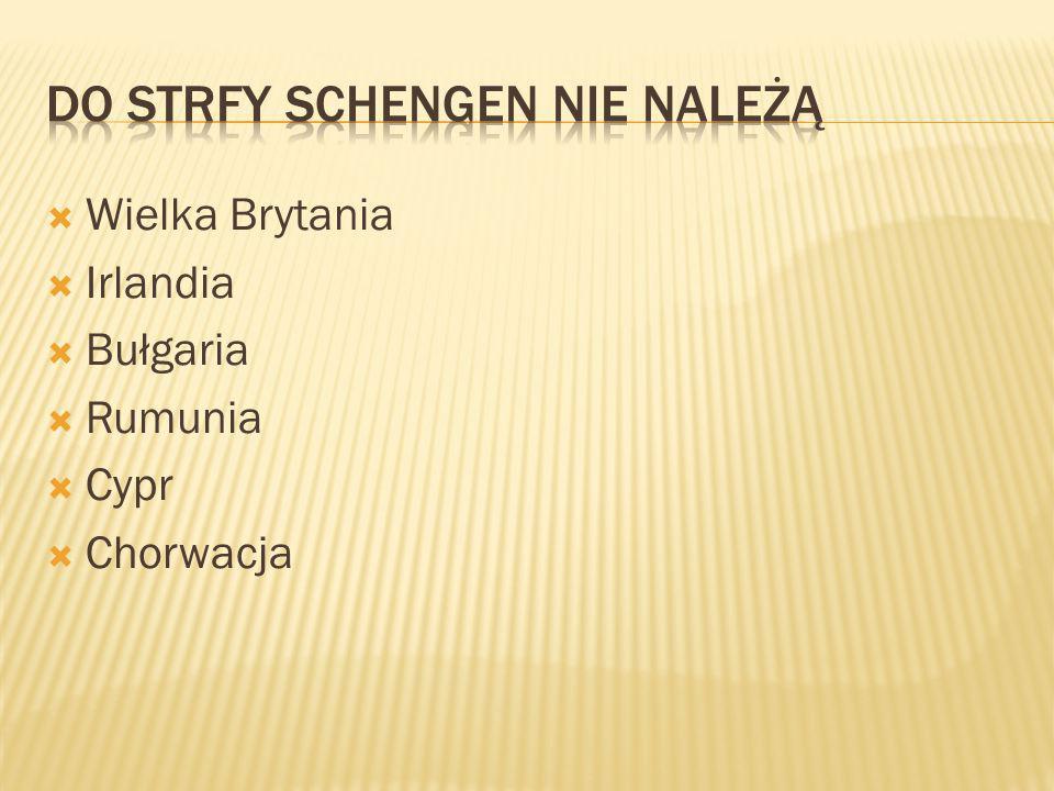 Do strfy Schengen nie należą
