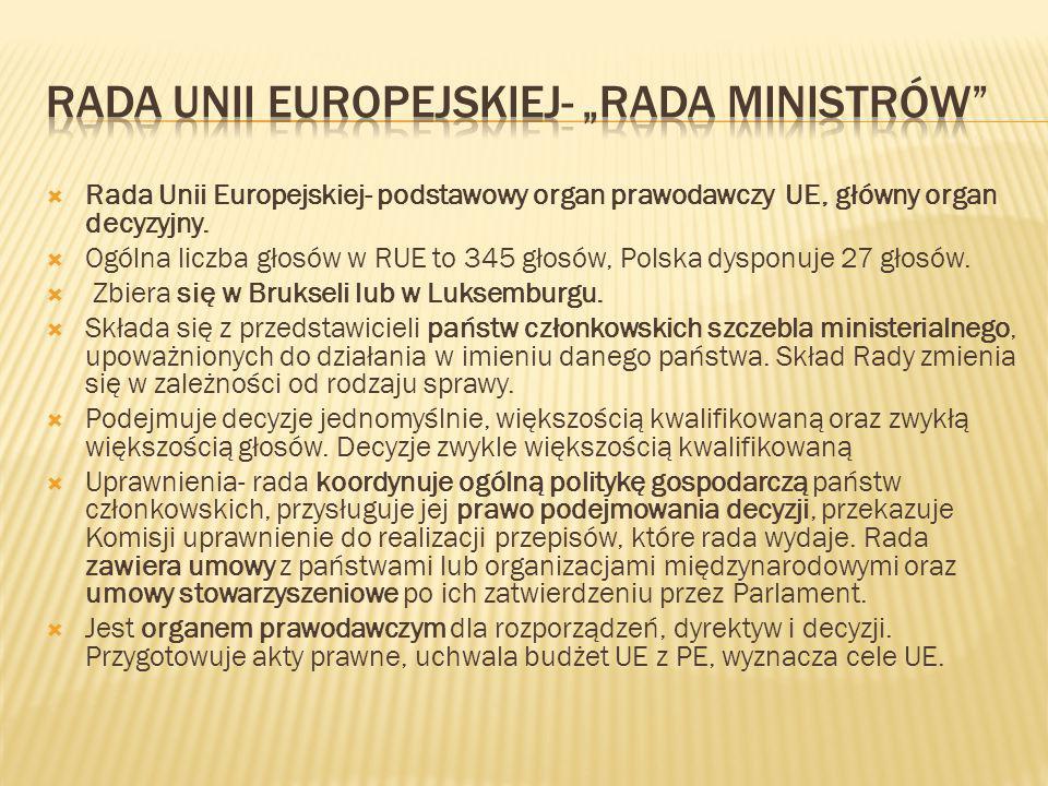 """Rada Unii Europejskiej- """"Rada Ministrów"""