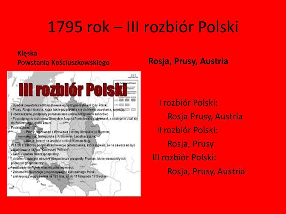 1795 rok – III rozbiór Polski