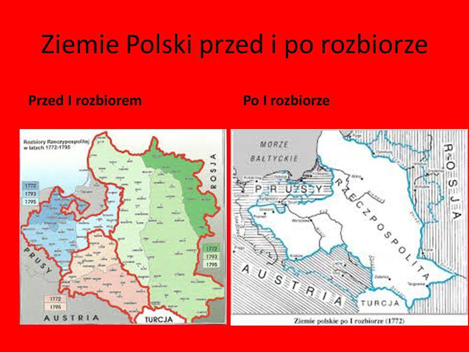 Ziemie Polski przed i po rozbiorze
