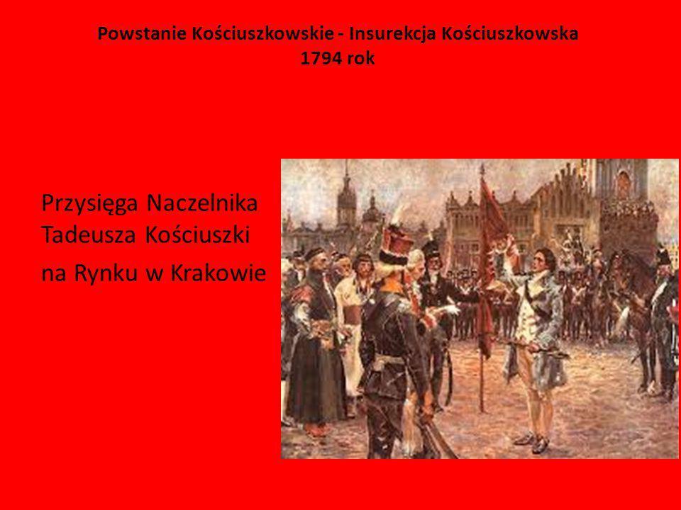 Powstanie Kościuszkowskie - Insurekcja Kościuszkowska 1794 rok