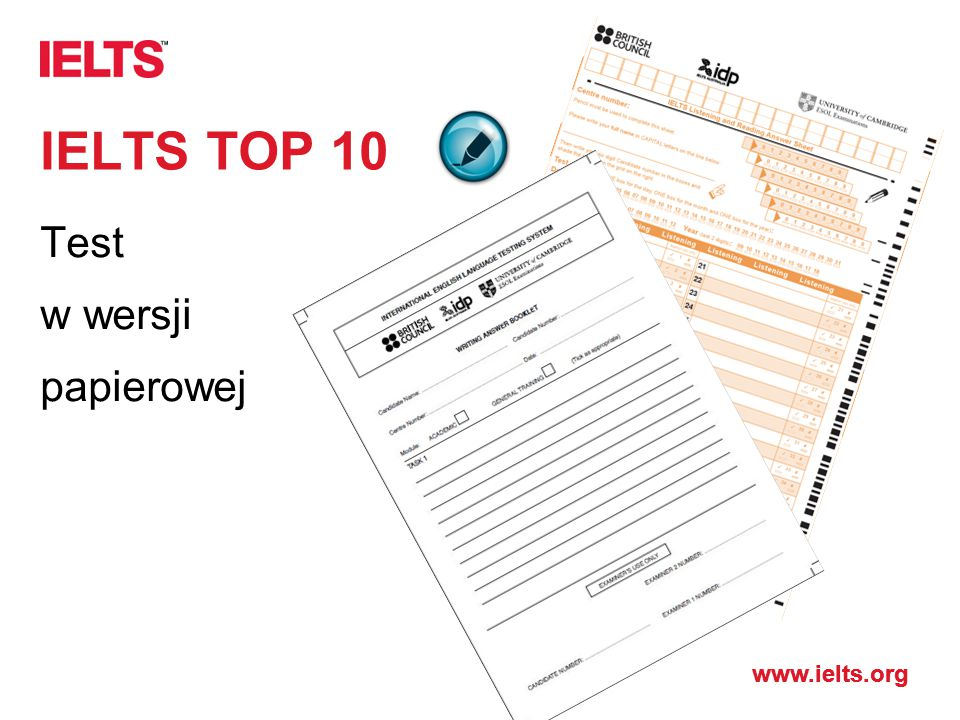 IELTS TOP 10 Test w wersji papierowej