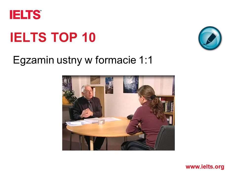 IELTS TOP 10 Egzamin ustny w formacie 1:1