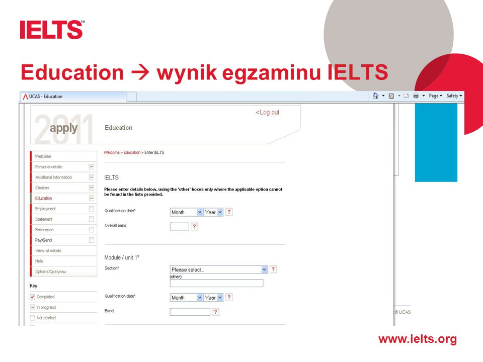 Education  wynik egzaminu IELTS