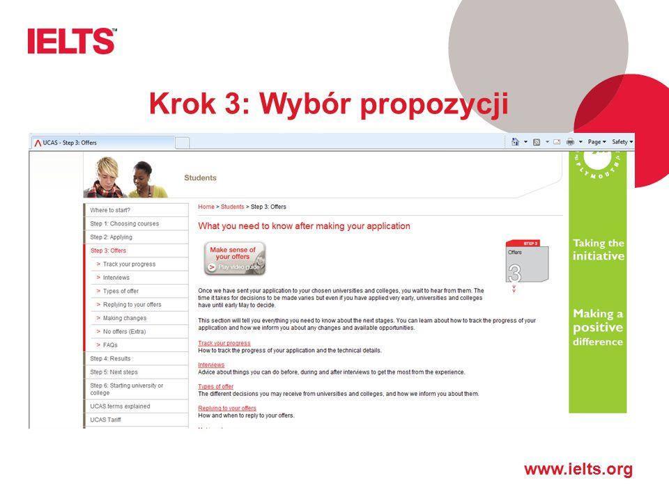 Krok 3: Wybór propozycji