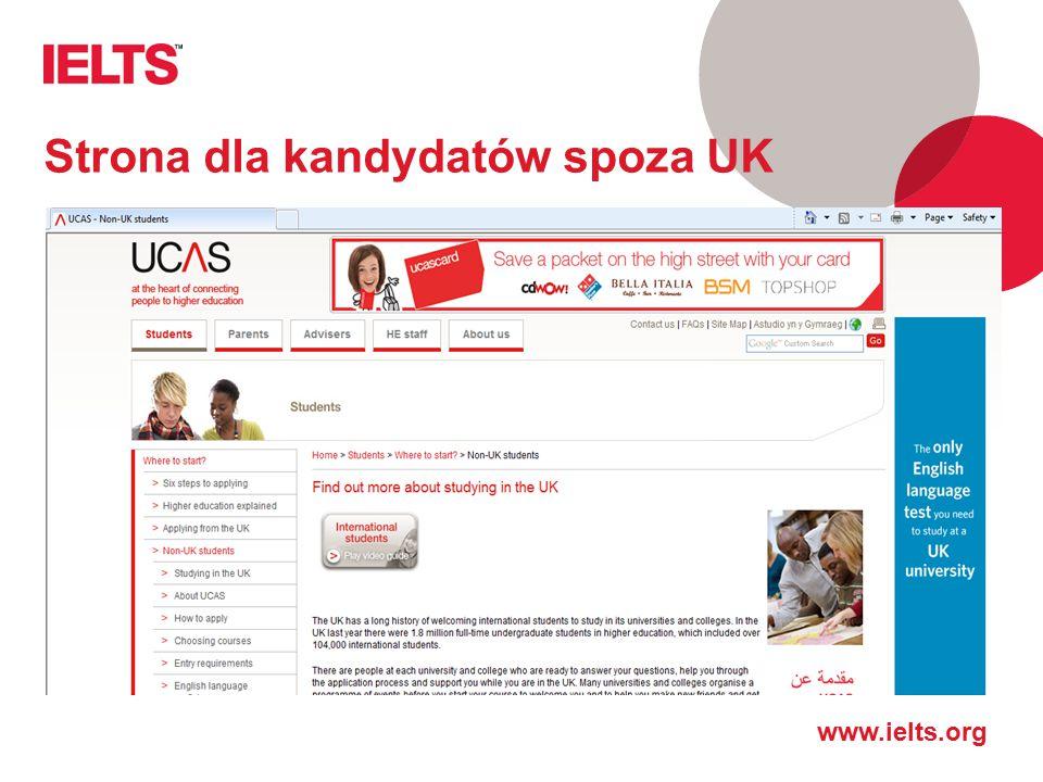 Strona dla kandydatów spoza UK