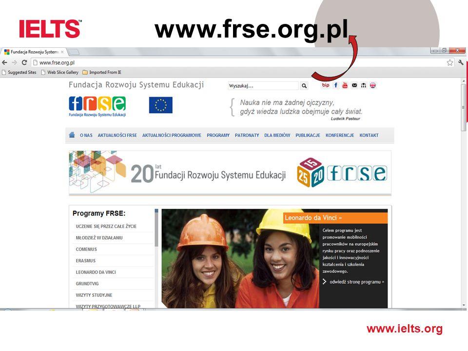 www.frse.org.pl Gdzie szukać informacji o Procesie Bolonskim