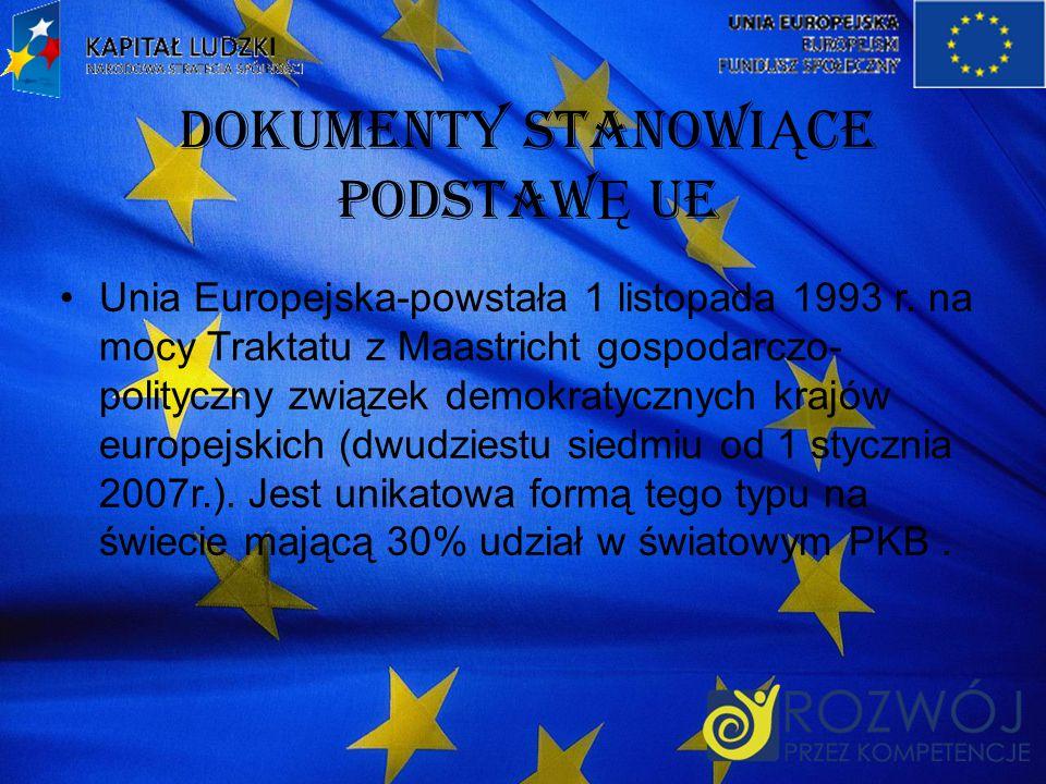 Dokumenty StanowiĄce PodstawĘ UE
