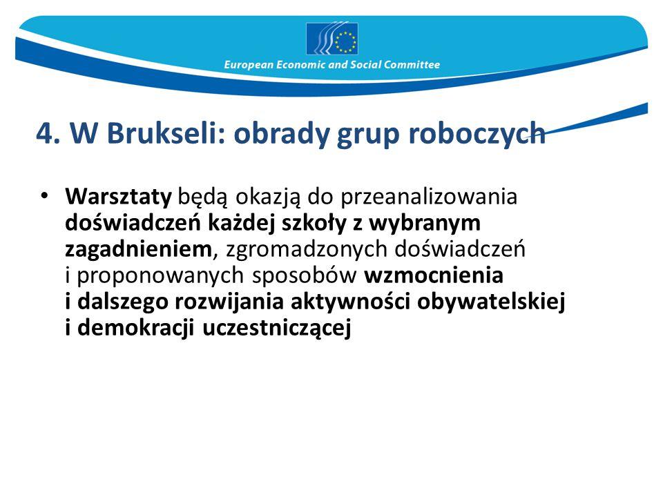4. W Brukseli: obrady grup roboczych