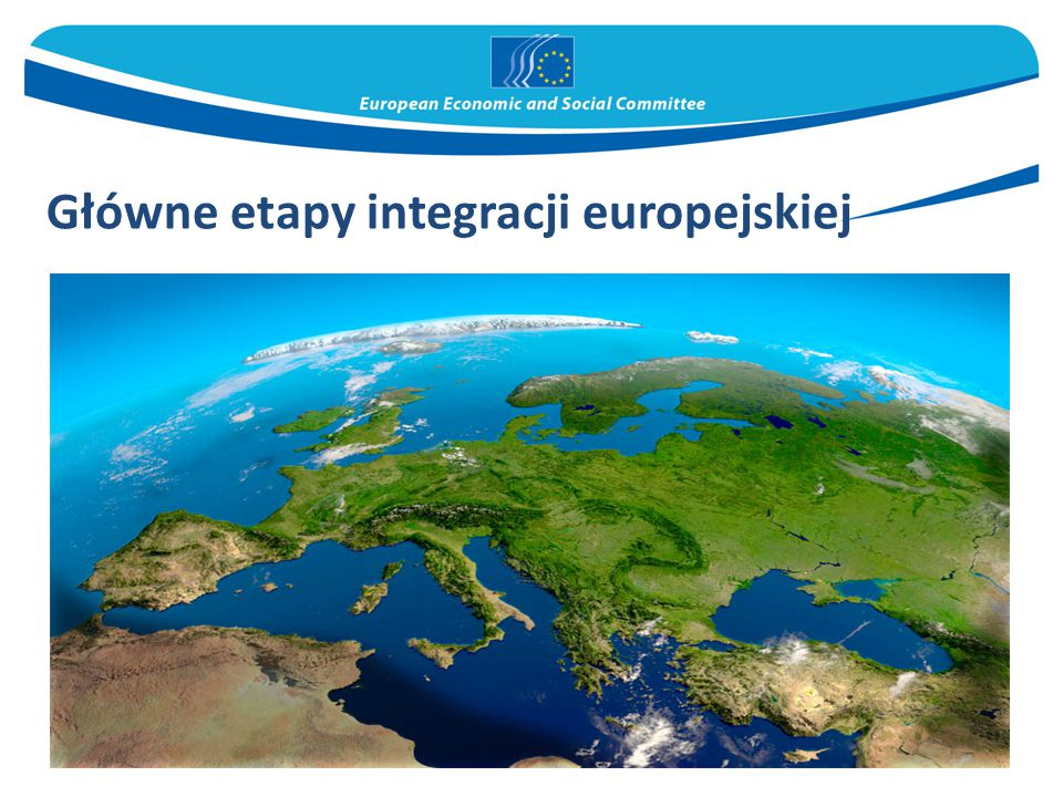 Główne etapy integracji europejskiej