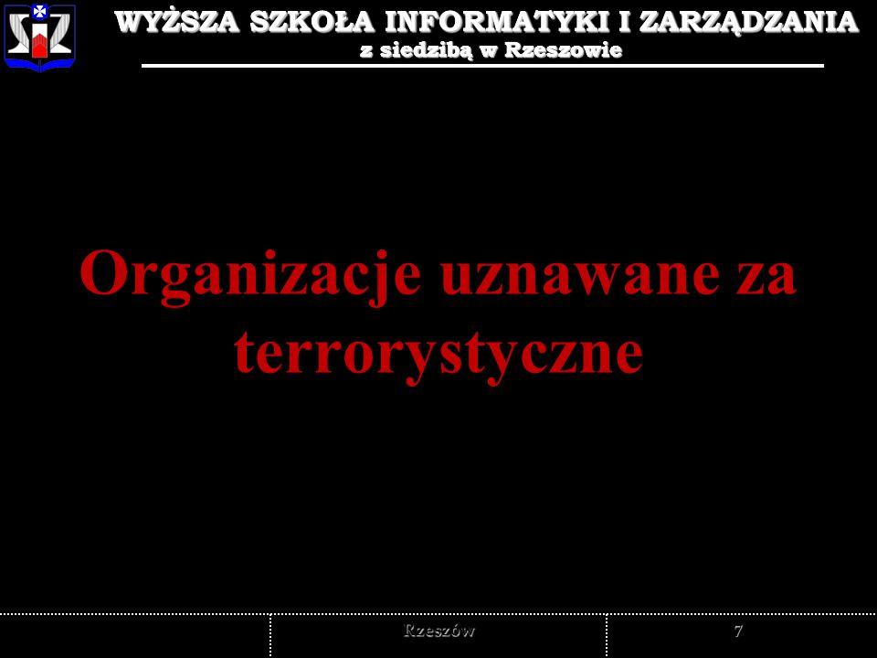 Organizacje uznawane za terrorystyczne