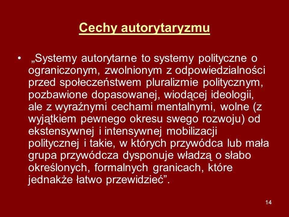 Cechy autorytaryzmu
