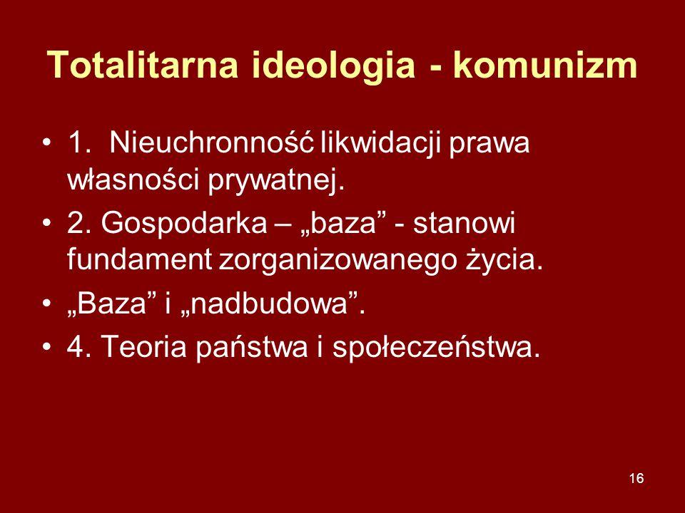 Totalitarna ideologia - komunizm