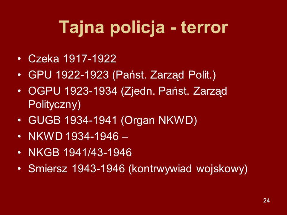 Tajna policja - terror Czeka 1917-1922