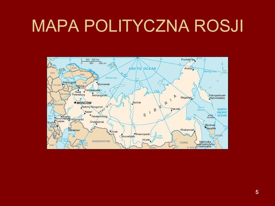 MAPA POLITYCZNA ROSJI