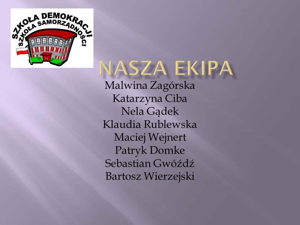 Nasza ekipa Malwina Zagórska Katarzyna Ciba Nela Gądek