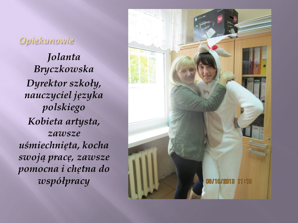 Dyrektor szkoły, nauczyciel języka polskiego