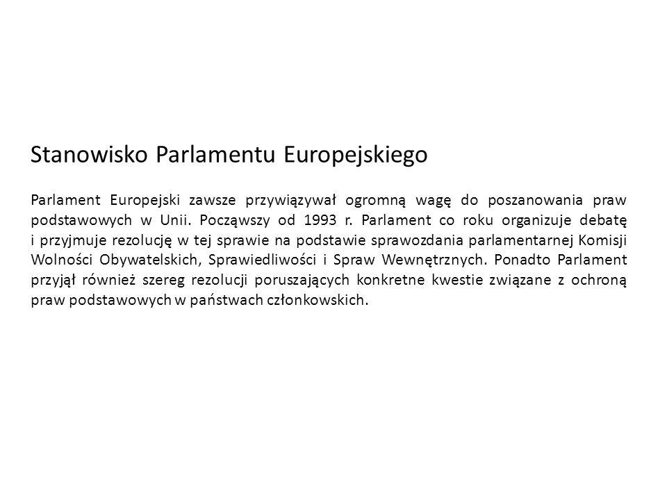 Stanowisko Parlamentu Europejskiego