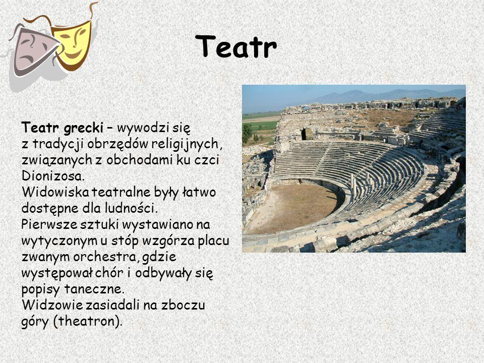 Teatr Teatr grecki – wywodzi się