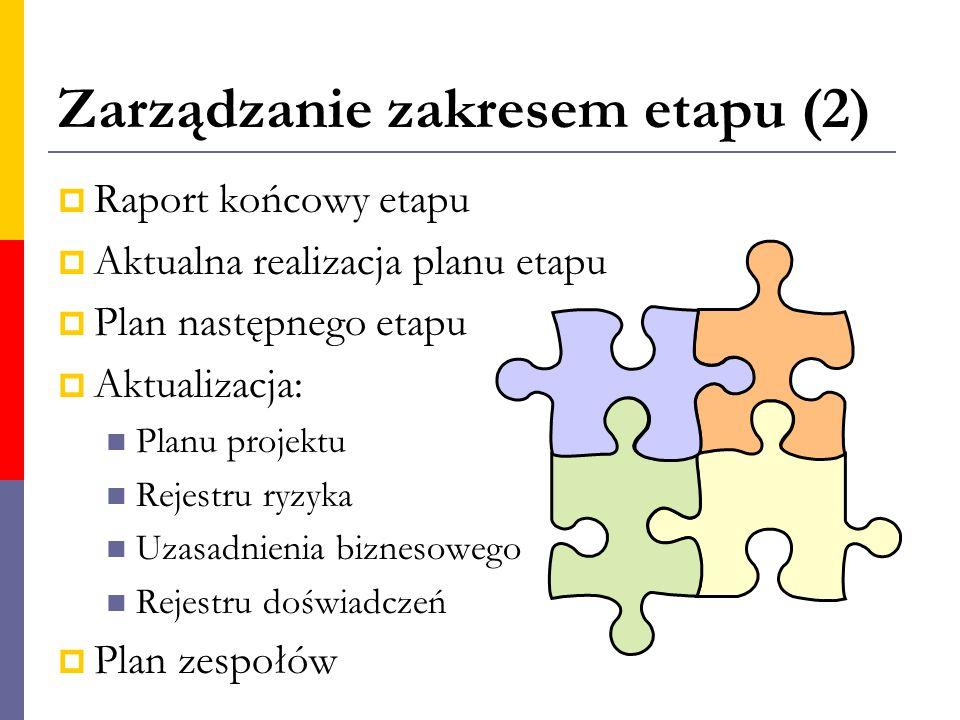 Zarządzanie zakresem etapu (2)