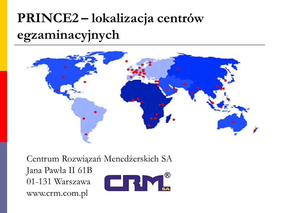 PRINCE2 – lokalizacja centrów egzaminacyjnych