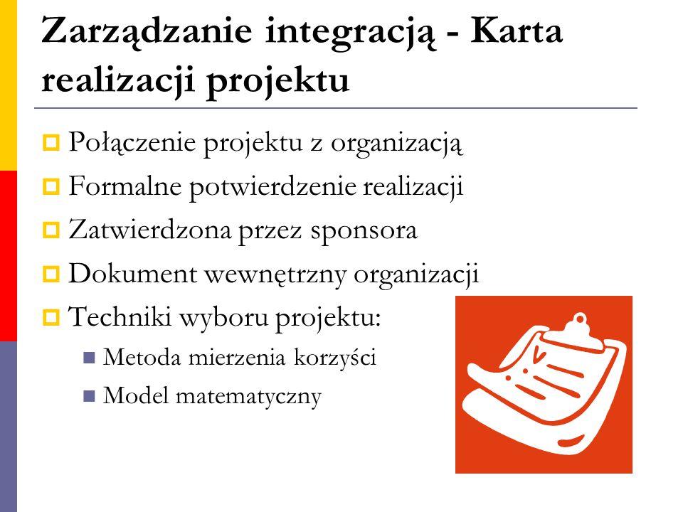 Zarządzanie integracją - Karta realizacji projektu