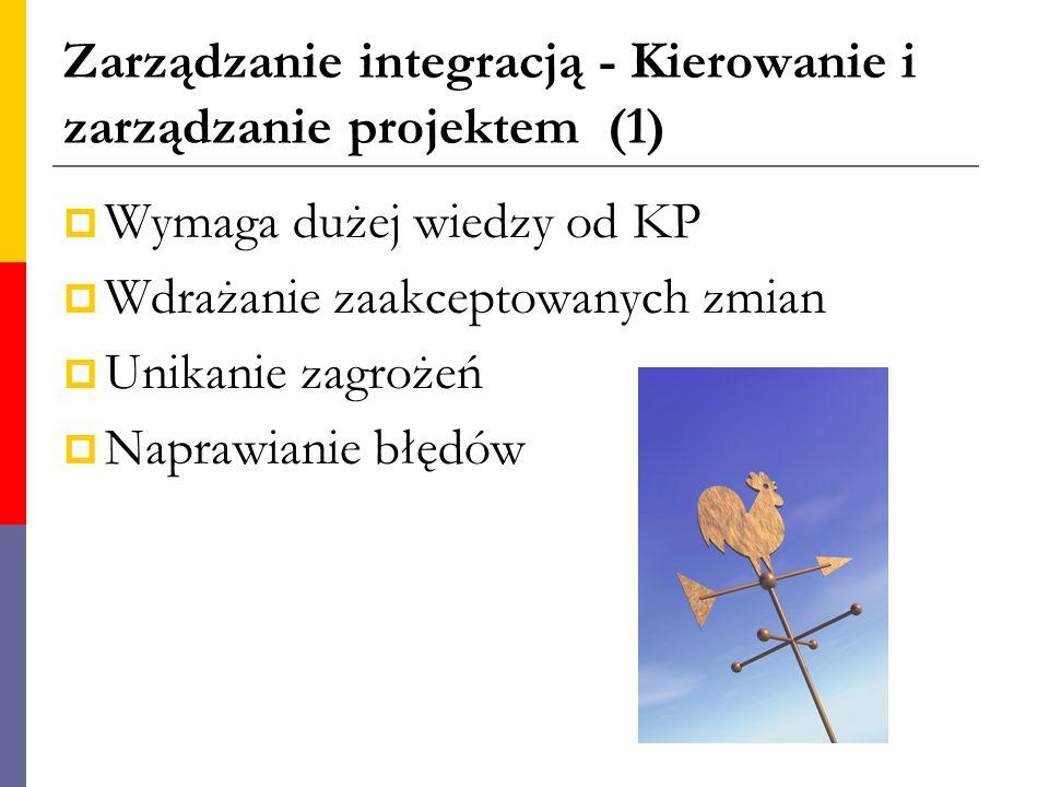 Zarządzanie integracją - Kierowanie i zarządzanie projektem (1)