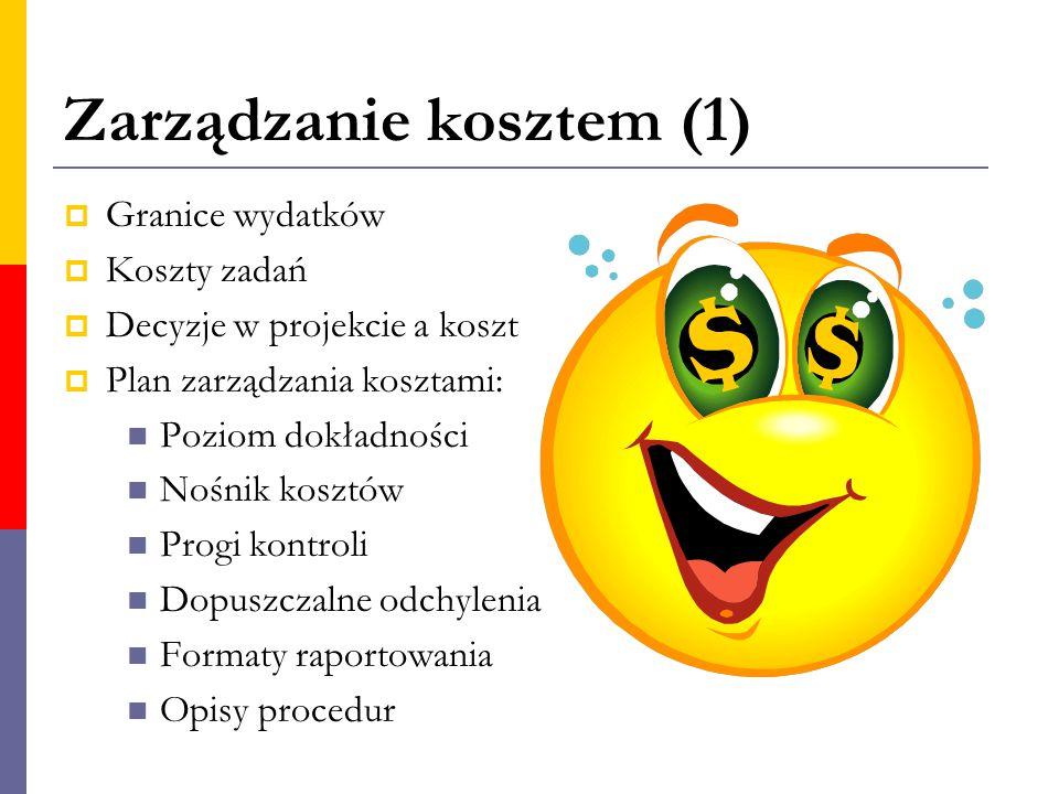 Zarządzanie kosztem (1)
