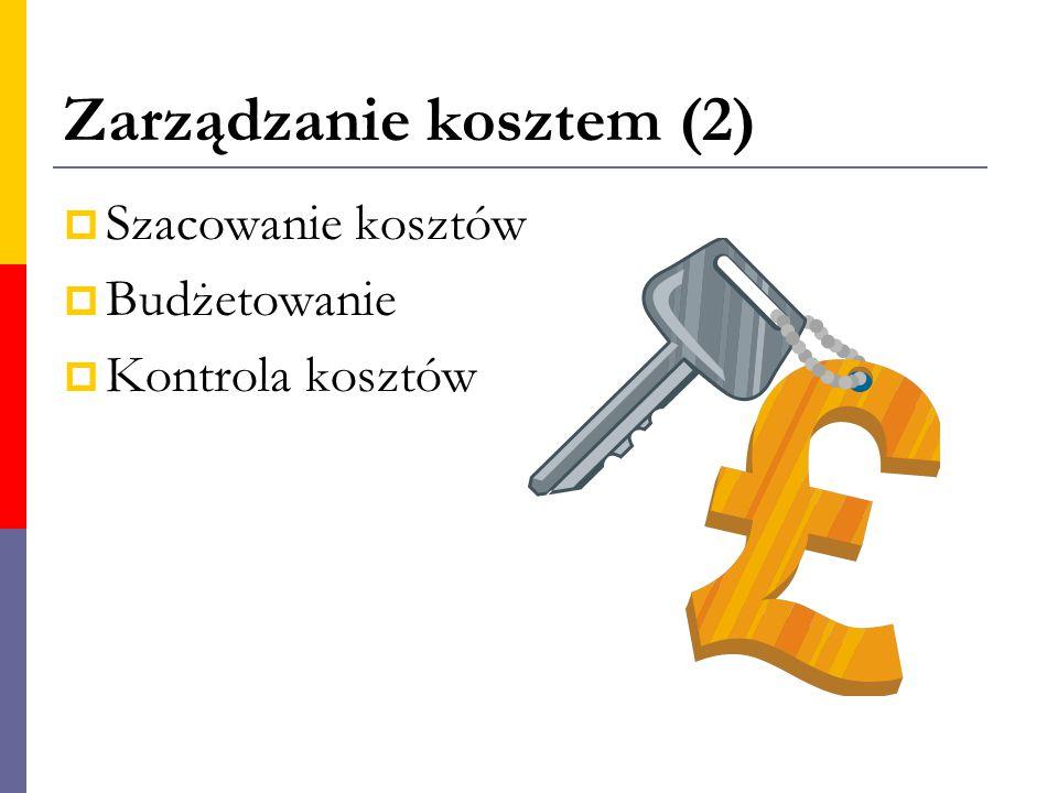 Zarządzanie kosztem (2)